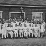 1928: Turnerfamilie vor dem Turnerheim Kuhlager-Seele