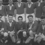 1959: 1. Handballmannschaft - hinten v.l. Paul Wurster, Walter Krebs, Günther Haas, Egbert Dolde, Gernot Schumacher, Valentin Joachim - vorn v.l. Dieter Wöhrle, Roland Hauck, Reimund Furrer, Helmut Constantin, Anton Okeli