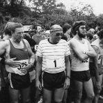 1983: Start zum 1. Internationalen Karlsruher Marathon beim TUS Rüppurr mit der Start-Nr. 1: OB Prof. Dr. Gerhard Seiler