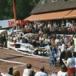 1983: 1. Internationaler Karlsruher Marathon: Warten der Jury auf den ersten Läufer