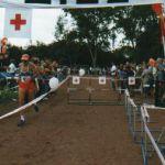 1983: 1. Internationaler Karlsruher Marathon: Lothar Mittler beim Zieleinlauf