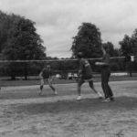 1986: Ringtennis: Badische Gaumeisterschaften in Rastatt - Mix-Halbfinale - der TUS unter sich. Birgit Bayerl / Dieter Bendlin (1.), Petra Winkler / Steffen Götz (4.)