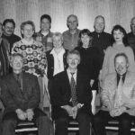 1999: Der Vorstand - stehend v.l. Siegbert Kessel, Karl-Heinz Froböse, Eric Schwingen, Eberhard Misch, Dr. Thomas Greß, Ingeborg Kolb, Dr. Norbert Czerwinski, Marion Reick, Gunter Klaiber, Ute Backes-Haag, Holger Krause, Götz Reich - sitzend v.l. Stellv. Vorsitzender Dr. Hartmut Braun, Vorsitzender Günter Brümmer, Stellv. Vorsitzender Manfred Biersch