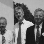 1999: Der Vorstand zur 125-Jahr-Feier - Stellv. Vorsitzender Manfred Biersch, Vorsitzender Günter Brümmer, Stellv. Vorsitzender Dr. Hartmut Braun